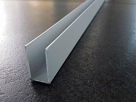 U-Profil für feststehende Glasabtrennung; Aluminium silber matt eloxiert; Typ PP-GU30/40-10, Art.Nr. 67772/67782