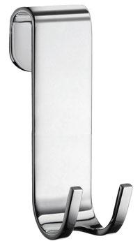 Haken für rahmenlose Duschtrennwände; für Duschabzieher, Handtücher, Rasiergeräte usw., Höhe 95 mm, Chrom glanz, DK2111