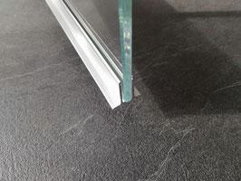 Alu-U-Wandprofil mit Fuß - Profil zur Befestigung feststehender Scheiben an Wänden, Art.Nr. 52004