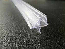 Dusch-Türdichtung mit dreieckiger Wasserabweislippe inkl. Abtropfkante und Dichtlippe unten, 100 oder 65 cm, Art.Nr. 009C