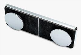Serie Eido S40, Glas-Glas-Verbinder (Festteil an Festteil im 180°-Winkel), Art.Nr. 400009