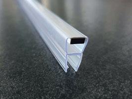Magnetdichtung parallel zur Glaskante, Dichtung mit Magnetstreifen für Duschglastür für Dreh-, Pendel- und Schiebetüren (1 Stück), Art.Nr. 008BW