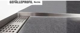 Fliesen Gefälleprofil für Boden, 2-tlg. mit Gefällekeil; Edelstahl 3D-poliert; Art.Nr.: GPD-3D