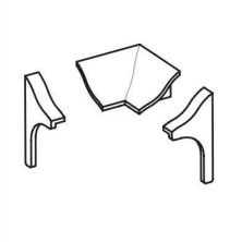 Zubehör für Fugenabdeckprofil für Fuge zwischen Duschwanne und Fliesenwand - PVC, Farbe: Weiß, Art.Nr. BPK/25