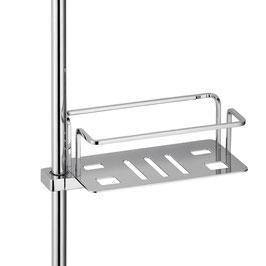 Korb für Duschstange mit gerader mehrfach geschlitzter Grundplatte - 4020