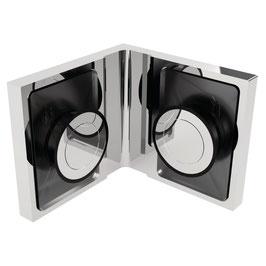 Serie SM-Kim, Winkelverbinder Glas/Glas 90°