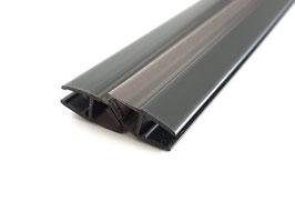 schwarze Tür-Magnetdichtung 180° (Anschlag aus 2x 45° Magnetdichtung = 1 Paar), für 6 und 8 mm universal, Art.Nr. 6072-B (6082-B)