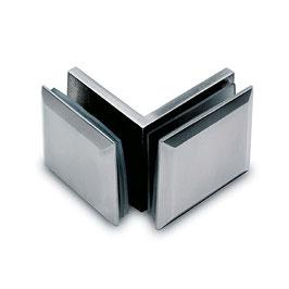 Winkel, Glas/Glas 90°, V2A, für Glasstärke 8 - 12 mm, Art.Nr. 4012.090