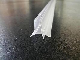 Dusch-Türdichtung Typ Diana für 6 mm Glasstärke mit beidseitiger Abtropfleiste und kurzer Lippe nach unten, 98,5 cm - 6069