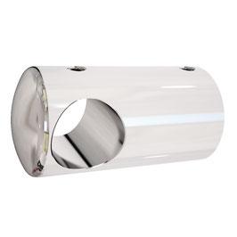 T-Abzweig für Stabistangenrohr 12,5 mm, Messing glanzverchromt, 90°, Art.Nr. 0660