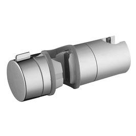 Handbrausehalter mit Gleiter für Brausestangen, passend für 18 - 25 mm Rohrdurchmesser, Kunststoff verchromt, Art.Nr.  R0160