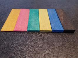 Distanz-Unterlagen aus Holz für rahmenlose Glasduschen