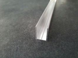 Alu-U-Profil für 8 - 10 mm Glas zur innenseitigen Silikonverklebung, Höhe 20 mm, Art.Nr. BO67034.8