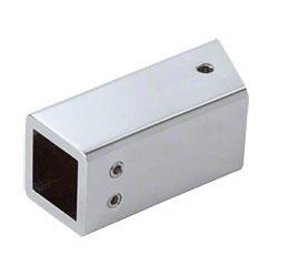 Wandhalter für Vierkant-Stabistange 19 x 19 mm im 22,5°-Winkel zur Wand, SQ48
