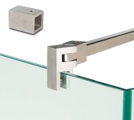 Stabistange-Vierkant Set Glas-Wand 90°, 15 x 15 mm; Edelstahl poliert oder gebürstet, Länge: 963 mm, , Art.Nr. 5420241