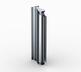 drehbares Duschtür-Wandprofil für 8 mm Glasdicke mit T-förmigen Wandprofil, Serie BO-2020