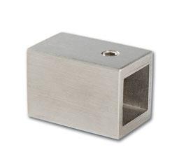 Wandhalter für Vierkant-Stabistange, Edelstahl poliert oder gebürstet, 15 x 15 mm im 90°-Winkel zur Wand, Art.Nr. 5420243