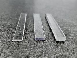 transparente Unterlagen für rahmenlose Glasduschen