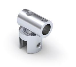 Glasanschluss drehbar rund, ø12 mm, Messing glanzverchromt, 90°, Art.Nr. BO5420066