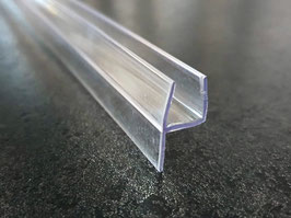 Tür-Anschlags- und Fugendichtung Glas-Glas 180° aus Polycarbonat, hochtransparent (glasklar), Art.Nr. S003A2