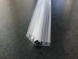 Tür-Magnetdichtung 135°, Dichtungspaar mit Magnetstreifen für Duschglastür (Anschlag aus 1x 45° und 1x90° Magnetdichtung = 1 Paar), Art.Nr. 008A1W+008BW