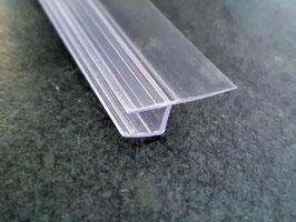 Duschtürdichtung senkrecht mit weicher Lippe, Dichtung zwischen Tür und Seitenscheibe, für 6 oder 8 mm Glasdicke, Art.Nr. 003