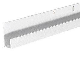 Aluminium J-Profil, für 4 , 5 oder 6 mm Glas bzw. Spiegel, zur innenseitigen Silikonverklebung, Höhe 9,5 mm, Länge: 1000 mm, Art.Nr.: D636