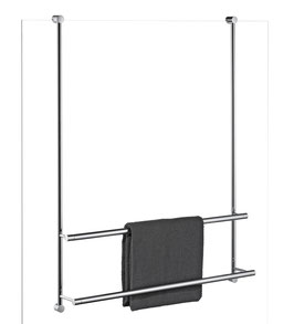 Badetuchhalter Server, 2-fach übereinander, für Glasdusche zur Befestigung an Glaskante