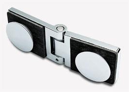 Serie Eido S40, Scharnier Glas-Glas 180°  Türe nach außen öffnend (bis 180°), Art.Nr. 401005