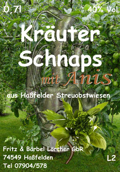 Kräuterschnaps, Anis 40%