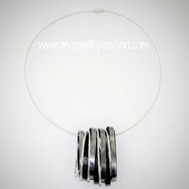 VITTORIA - Zwart/Metaal/Zilver