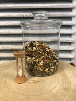 Teeuhr aus Holz