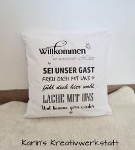 """Polster """"Willkommen"""""""