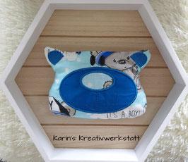 "Kirschkernkissen ""Bär"" It´s a Boy Blau"