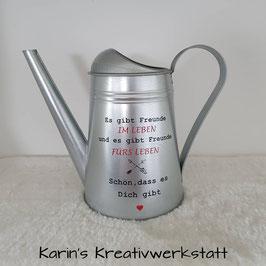 "Gießkanne Silber ""Freunde im Leben"""