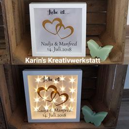 """LED Bilderrahmen """"Hochzeit"""" * Liebe ist*"""
