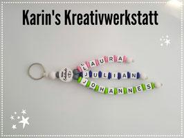 """Schlüsselanhänger """"3 Strang"""" mit Motiv"""