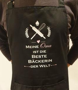 Kochschürze Schwarz *Beste Bäckerin*