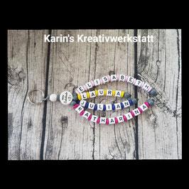 """Schlüsselanhänger 4 Strang"""" mit Motiv"""
