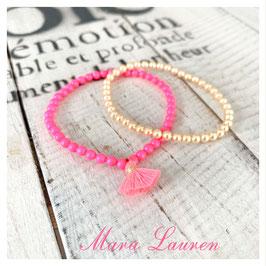 Perlenarmband Cala Pink meets Gold