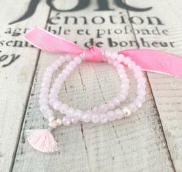 Facetarmbänder rosa mit silber