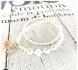 Individuelle Armbänder mit Perlen