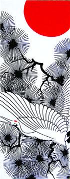 Tenugui (Tanchozuru-Crane)
