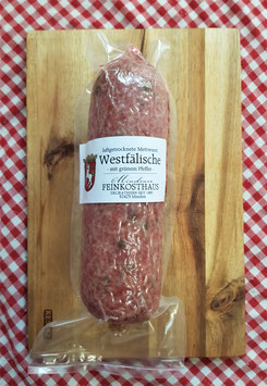 Westfälische Mettwurst - Grüner Pfeffer - 300 Gramm