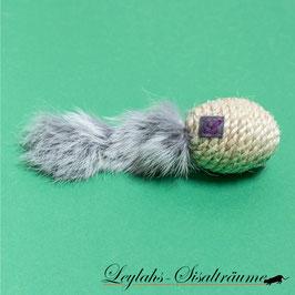 207 - Fellmaus Kaninchen L Silber- Ungefüllt