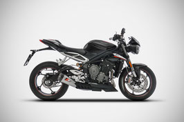 ZARD STREET TRIPLE 765 SHORT SILENCER