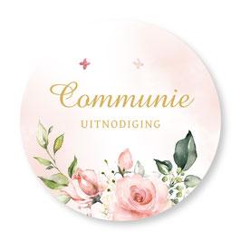 25 stuks sluitzegels communie rozen