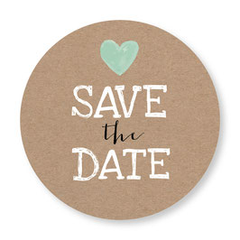 25 sluitzegel Save the Date kraftlook hartje