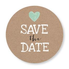 25 sluitzegel Save the Date kraftlook hartje
