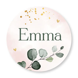 25 stuks sluitstickers floral Emma